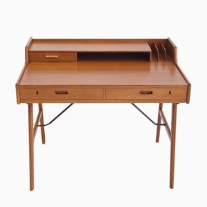 Model 56 Teak Writing Desk by Arne Wahl Iversen for Vinde, 1960s