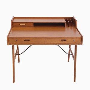 Modell 56 Schreibtisch aus Teak von Arne Wahl Iversen für Vinde, 1960er