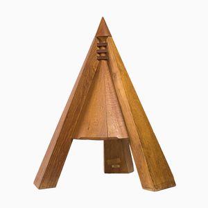 Scultura vintage in legno di betulla di Onco Tattje