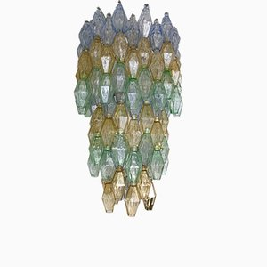 Kronleuchter aus Muranoglas in Polyeder-Optik von Carlo Scarpa für Venini, 1960er