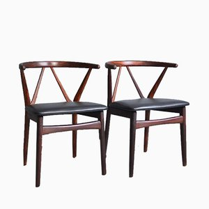 Model 255 Chairs by Henning Kjaernulf for Bruno Hansen, 1960s, Set of 2
