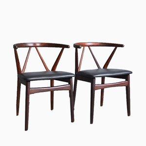 Model 255 Chairs by Henning Kjaernulf for Bruno Hansen, 1960s, Set of 2