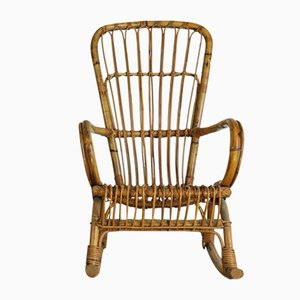 Rattan Rocking Chair, 1950s