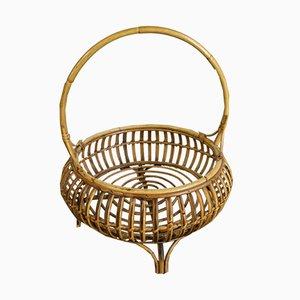 Rattan Basket, 1950s