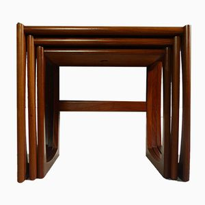 Mid-Century Quadrille Nesting Tables by R. Bennett for G-Plan