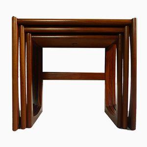 Tables Gigognes Quadrille Mid-Century par R. Bennett pour G-Plan
