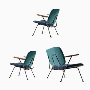 Sofá de dos plazas y dos sillones de W. H. Gispen para Kembo, años 50