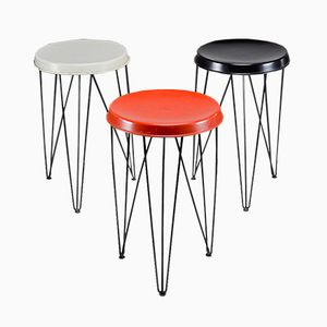 Modernist Stools by Tjerk Reijenga for Pilastro, 1960s, Set of 3