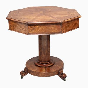 19th Century Pollard Oak Drum Table