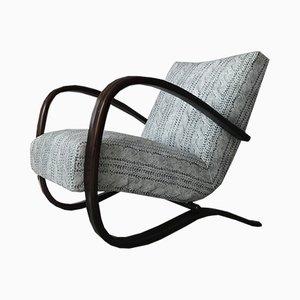H269 Sessel aus Samt & Bugholz von Jindřich Halabala für Thonet, 1960er