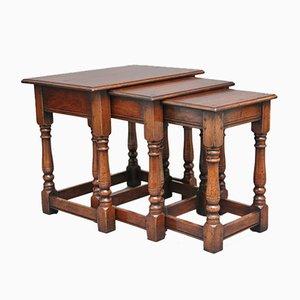 Tavolini a incastro Mid-Century in legno di ciliegio