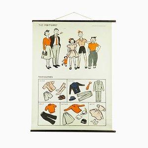 Pim-Family Schulkarte von Hildegard Friedrichs, 1963