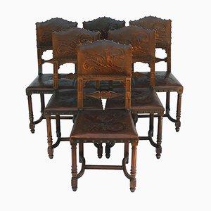 Antike Esszimmerstühle, 1890er, 6er Set