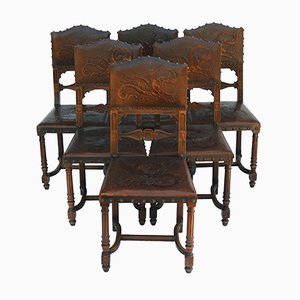Antique Dining Chairs, 1890s, Set of 6