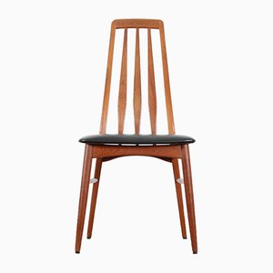 Scandinavian Eva Chairs in Teak, 1960s, Set of 4
