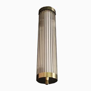French Brass Wall Light, 1930s