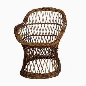 Wicker Children's Chair, 1960s