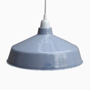 Lámpara suiza industrial esmaltada de Regent, años 30