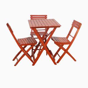 Tisch & Stühle aus Buche, 1960er
