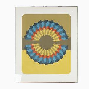 Serigrafía a color Figure VII de Marko Spalatin, 1974
