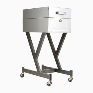 Archivador Zeuss LUN 400 industrial de metal gris de Olivetti, años 70