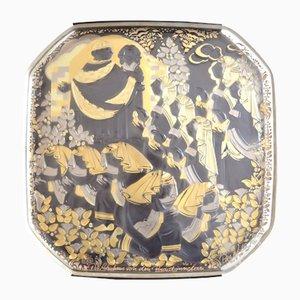 Vintage Wandteller aus Glas von Bjørn Wiinblad für Rosenthal