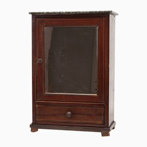 Small 19th-Century Cabinet with Mirror