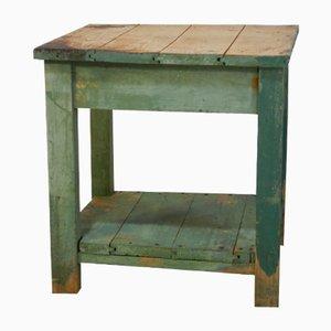 Kurzwaren-Werktisch aus Tannenholz, 1960er