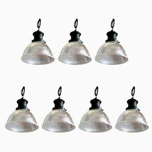 Lámparas de techo de Holophane, años 20. Juego de 7