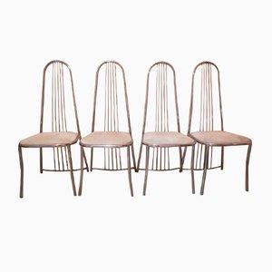 Vintage Esszimmerstühle aus Edelstahl, 1970er, 4er Set