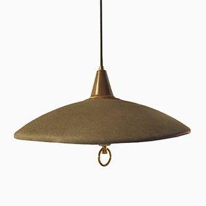 Lámpara de techo francesa regulable en altura, años 50