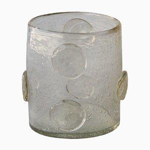 Vase Cylindrique en Verre de Murano, Italie, 1950s
