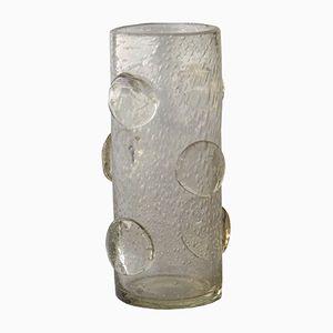 Italian Cylindrical Murano Glass Vase, 1950s
