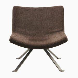 Mid-Century Sessel mit flachen Stahlbeinen