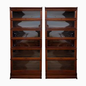 Mahogany Bookcases from Globe Wernicke, 1910s, Set of 2