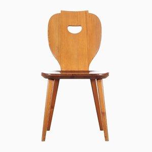 Stuhl aus Pinienholz von Carl Malmsten für Svensk Fur, 1953
