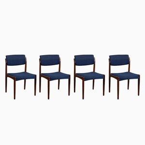 Dänische Mid-Century Esszimmerstühle aus Palisander von H.W. Klein für Bramin, 4er Set