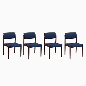 Danish Mid-Century Rosewood Dining Chairs by H.W. Klein for Bramin, Set of 4