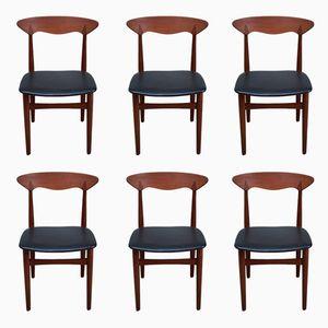 Dänische Stühle aus Teak, 1960er, 6er Set
