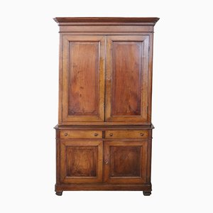 Antique Solid Walnut Cabinet, 1850s