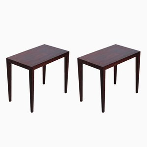 Danish Rosewood Side Tables by Severin Hansen for Haslev Møbelsnedkeri, 1960s, Set of 2
