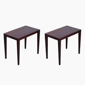 Tables d'Appoint en Palissandre par Severin Hansen pour Haslev Møbelsnedkeri, Danemark, 1960s, Set de 2