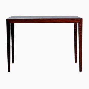 Small Vintage Rosewood Coffee Table by Severin Hansen for Haslev Møbelsnedkeri