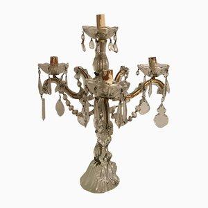 Vintage Kronleuchter-Tischlampe aus Kristallglas