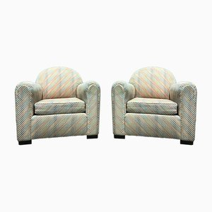 French Club Chairs, 1930s, Set of 2