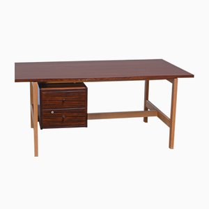 Mahogany Desk by Hans J. Wegner for Getama, 1960s