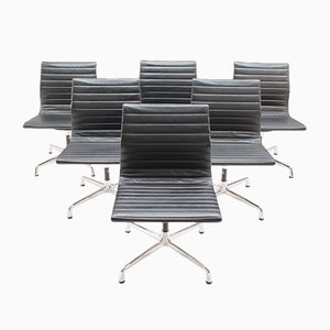 Vintage EA 105 Aluminum Chairs by Charles & Ray Eames for Vitra, Set of 6