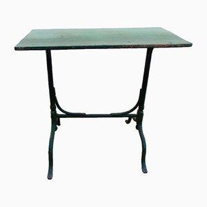 Mesa vintage de hierro y madera