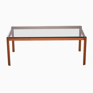 Danish Teak & Glass Coffee Table, 1960s