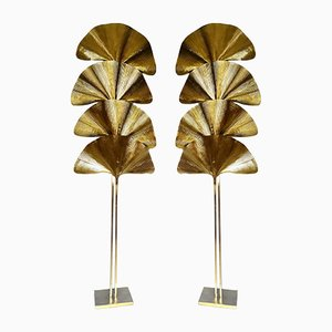 Ginkgo Lamps by Tommaso Barbi, 1970s, Set of 2